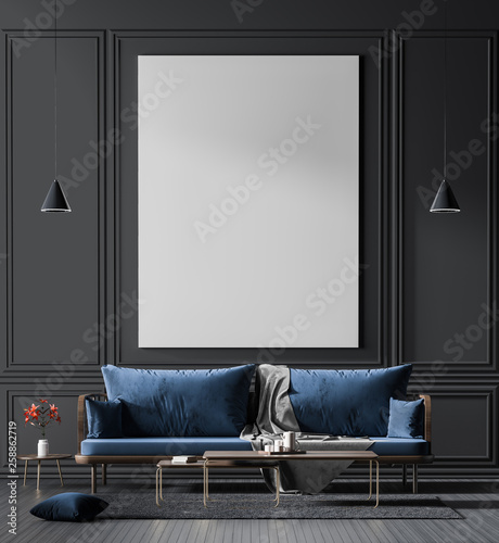 Cuadros en Lienzo Mock up poster frame in scandinavian style interior