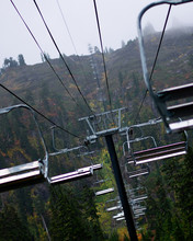 Ski Lift In The Summer Time