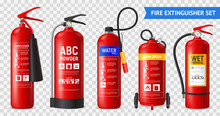 Realistic Fire Extinguishers Set