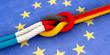 Leinwanddruck Bild - Verbundenheit zwischen Frankreich und Deutschland
