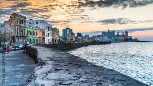 Foto op Canvas Havana Havana Cuba. Malecon - Havana's famous embankment promenade in Havana, Cuba