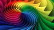 canvas print picture Colorful rainbow helix background. 3d illustration