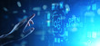 Leinwanddruck Bild - Open banking financial technology fintech concept on virtual screen.