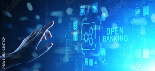 Photographie Open banking financial technology fintech concept on virtual screen