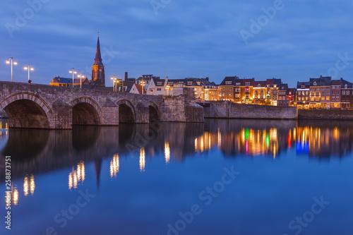 Poster Prague Maastricht cityscape - Netherlands