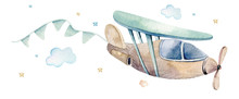 Watercolor Set Background Illu...