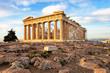 Leinwanddruck Bild - Athens - Parthenon on the Acropolis at sunrise in Greece