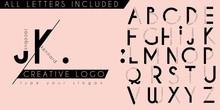 Minimal Creative Logo Initial Monogram Letter Design Template