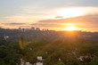 """Beautiful landscape view at sunset time of the city of Sao Paulo in Brazil, The shot is from Sunset square or in portuguese """"praça por do sol"""""""