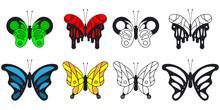 Butterfly Vector Cartoon Set I...