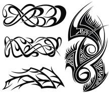 Art Deco Elements Designs Pattern, Art Tribal Tattoo