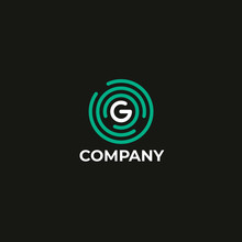 Letter G Logo Icon Design Template. Technology Abstract Line Connection Circle Vector Logotype