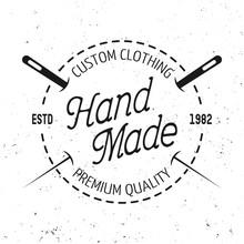 Tailor Shop Vector Black Round...