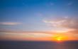 Leinwandbild Motiv Colorful sky at sunset, Greece