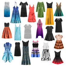 Group Of Dresses Isolated