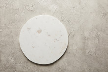 Top View Of Round Marble Tray ...