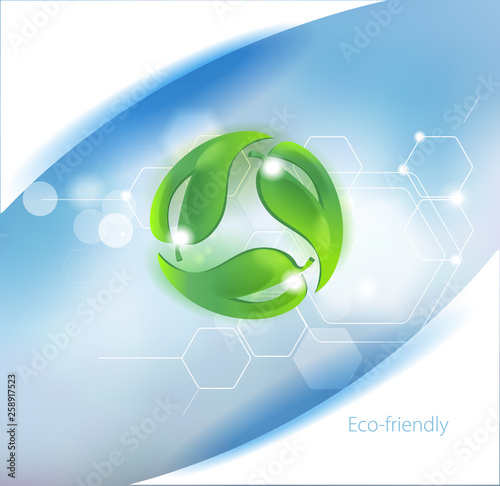 Caring for the environment. Symbol for eco-friendly Fototapet
