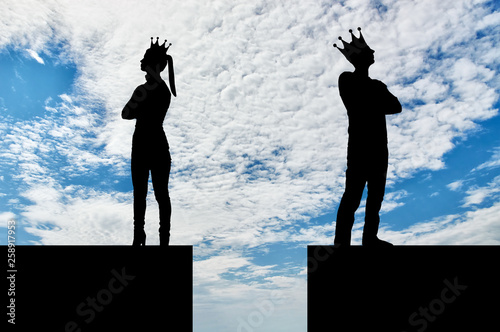Photo Concept of selfishness and arrogance in relationships