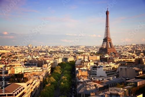 Poster Paris Paris sunset skyline