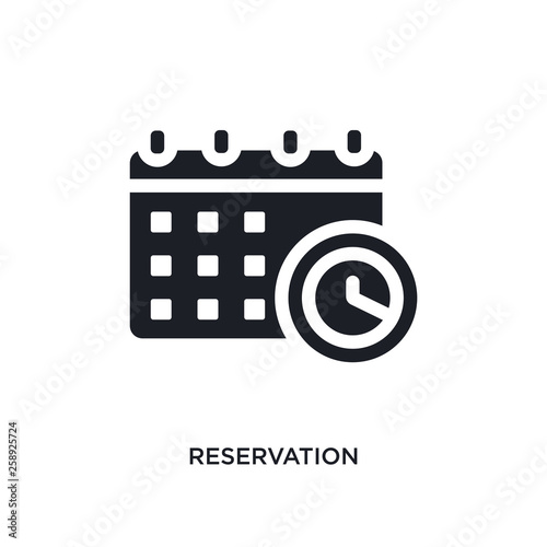 Tablou Canvas black reservation isolated vector icon