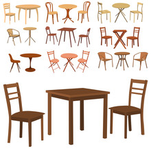 Set Of Furniture, Table And Chair