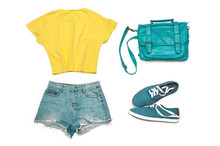 Set Of Summer Clothes And Acce...