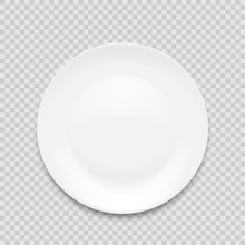 Empty White Plate Isolated On ...