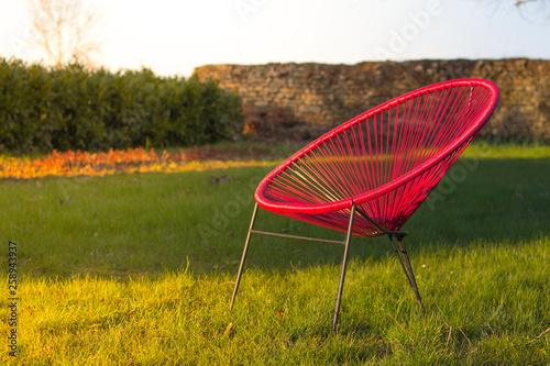 Chaise ou fauteuil acapulco dans un jardin Canvas-taulu
