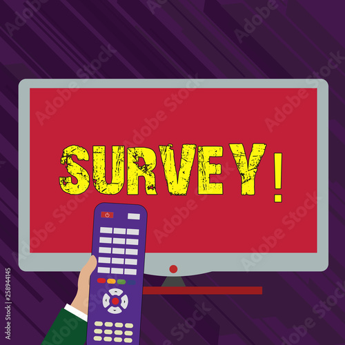 Photo  Conceptual hand writing showing Survey