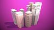 Leinwanddruck Bild - Modern city concept. 3d illustration