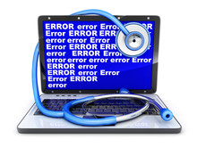 Laptop And Blue Screen Error