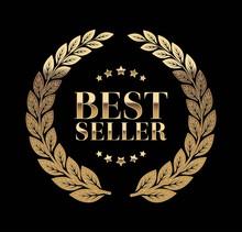 Best Seller Gold Sign With Laurel Vector