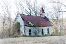 An Old Country Church With A R...