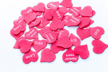 Heap Of Scattered Red Hearts B...