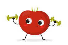 Smiling Tomato Character Doing...