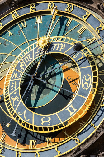 Photo  Astronomical clock, Town Hall, Old Town Square, Prague, Czech Republic