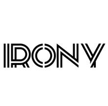 IRONY Stamp On White