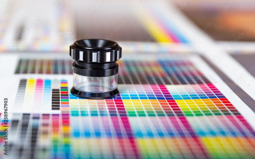 Fototapety, obrazy: Press color management - print production