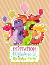 Baby Dragons Poster, Invitatio...