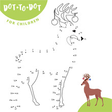 Connect The Dots To Draw The Animal Educational Game For Children Roe Deer