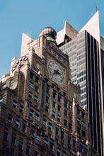 Close-up View Of Paramount Building In Midtown Manhattan New York City