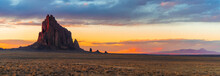 Shiprock Panorama With The San...