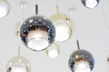 Round Lamp Are Hanged On Ceiling
