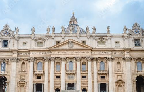 Cuadros en Lienzo Vatican, Rome, St. Peter's Basilica, eternal city - Rome