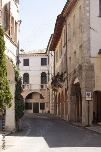 Acrylic Prints Narrow alley Borgo storico Asolo Treviso Italia