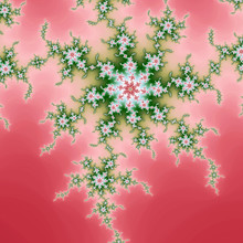 Red And Green Fractal Spiral, ...