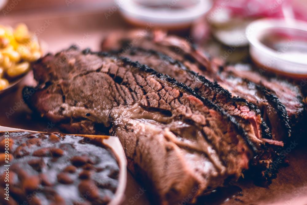 Fototapety, obrazy: Texas Style BBQ Smoked Beef Brisket
