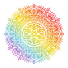 Colorful Rainbow Ethnic Mandal...