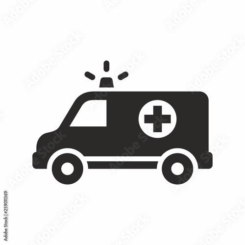 Ambulance vector icon Canvas Print