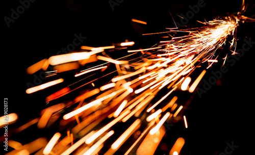 Fotografie, Obraz bright sparks of metal